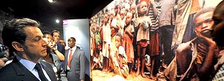 President Sarkozy at Rwanda's Genocide Memorial