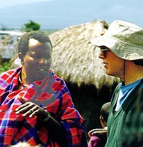 Jim with Edward, 1993.