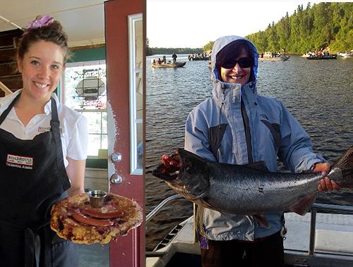 pancakes&salmon