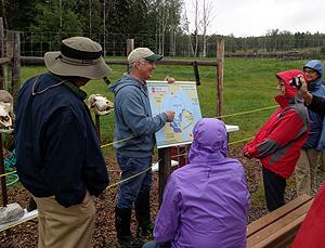 Dr. John Blake describes the muskox habitat.