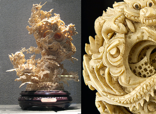 Only ivory can be so minutely and intricately carved yet remain so tough and durable.