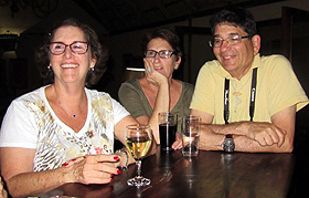 Carol, Michelle & David at Deception Valley Lodge.