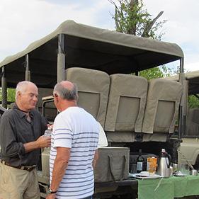 Rob Lebby & Marty Fisher having sundowners.