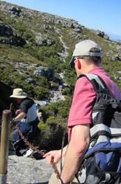 Alan Gross & Scott McKenzie on more difficult Table Mtn hike.