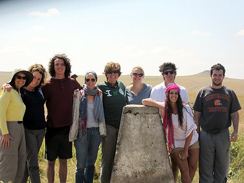 In Kenya without a visa! Peg Walsh, Ann Ertle, James & Julie Graham, Rosalini Fini, Mary Disse; Anthony, Jane & Michael Ertle.