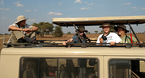 Louis, Judy, Ben & Swen on the Miller Family Safari.